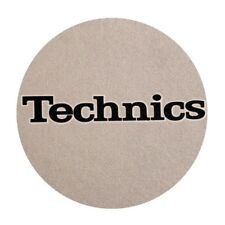 Pair Anti-static Wipes Record player Twin Set Slipmats Technics Silver and Black