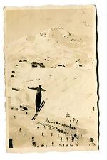Vintage Postcard RPPC SKI JUMPER Sweden Arosa  1929 Barenbadschanze skiing