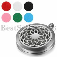 Hollow Flower Essential Oil Surgical Perfume Diffuser Necklace Pendant Locket