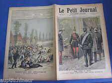 Le petit journal 1893 128 Coup d'état en serbie émeutes mons belgique fusillade