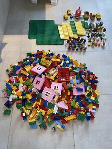 Lego Duplo - Grundplatten, Bausteine, Figuren, Fahrzeuge, Tiere u.a. knapp 10 KG