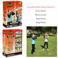 Stomp Rocket Blo-Rocket 4 Games In 1 Kids Outdoor Garden Air Power Launcher Toy