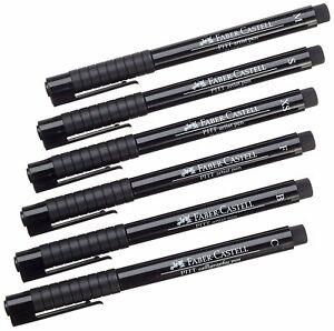 Faber Castell Pitt Artist 6 Pens Set Fineliner Drawing Set of 6 Black Pens