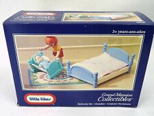 Little Tikes Grand Mansion Dollhouse BEDROOM Set Bed Crib NEW 5525 Vintage 90s