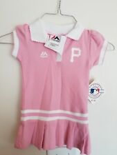 NWT Pittsburgh Pirates Baby Girl Dress Polo Pink Majestic 18M free shipping!