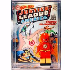 Flash Starro DC Custom Mini JLA Action Figure w/ Comic Display Case & Stand O91