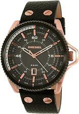 Diesel Men's Rollcage DZ1754 Black Leather Quartz Watch