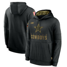Dallas Cowboys Football Hoodie 2020 Salute to Service Sideline Therma Pullover