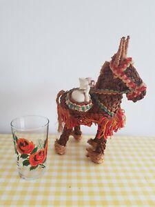 Vintage Retro Kitsch Spanish Holiday Souvenir Donkey Tiki Bar Cocktail 60s 70s