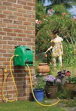 Garden Wall Mounted Water Hose Reel Patio Outdoor Retractable Watering Pipe 25m