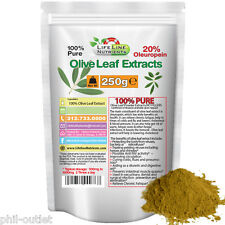 250g (8.8oz) Olive Leaf Powder Extract in Pouch - 20% Oleuropein - FREE Shipping