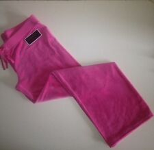 Juicy Couture Original Highlight Pink Velour Track Pants Sz.XL NWT