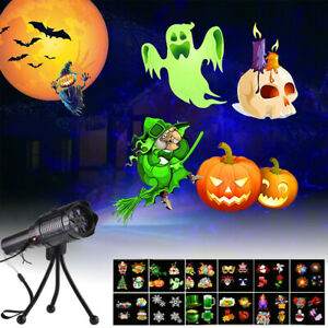 Outdoor LED Moving Laser Light Halloween Window Projector Christmas Party Lamp