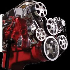 BILLET Tru-Trac Serpentine System 13220 SMALL BLOCK CHEVY POLISHED