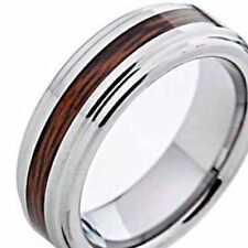 Wooden Tungsten Band Fashion Rings