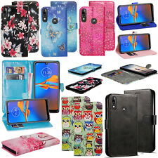 For Motorola Moto E6 E6s G8 G7 Play Power E5 PU Leather Wallet Flip Case Cover