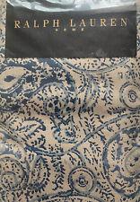 Ralph Lauren Landing Paisley Pair Of Pillowcases, Cotton Percale, Beige/Blue