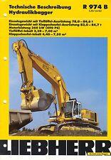 Liebherr R974B 03 / 2001 catalogue brochure excavator pelle Bagger Deutsch