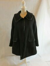 Armani Collezioni Womens Button Down Black Jacket w/ Removeable Vest Size 8