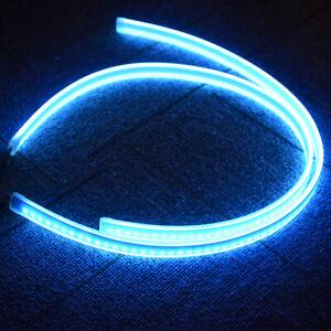 Pair 45cm Switchback Car Flexible LED Strip Light DRL Flowing Turn Signal Lamp