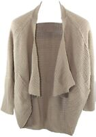 Love Change Ladies Womens Beige Open Front Knit Cardigan Size L