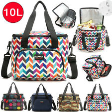 Lunch Bag Insulated Cooler Food Bags 10L Camping Picnic Box Shoulder Thermal