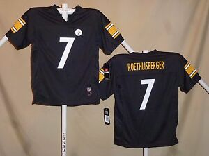 Ben Roethlisberger  PITTSBURGH STEELERS  Reebok JERSEY  Youth XL   NWT  blk  ns