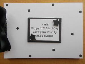 Personalised Polkadot 18th Birthday Guestbook Memory Scrapbook Photo Album Gift
