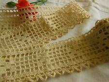dentelle ancienne épaisse crochet 1 m 10 sur  4,6 cm T9AG