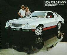 Ford Pinto Sales Brochure  1978