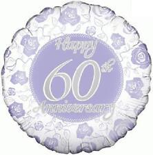 Happy 60th Wedding Anniversary Foil Balloon 46cm (18in) Diamond Anniversary