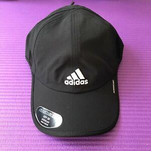 Adidas Men's Adizero II Strapback Hat Sport Cap Black One Size UPF 50 AEROREADY