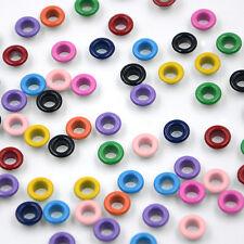 500pcs Eyelets Buckle LeatherCraft Apparel Metallic Scrapbook Mix-color 5mm