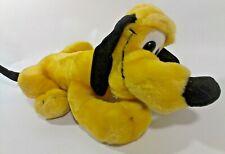 """Vintage Disney Pluto Dog Plush Toy Yellow Stuffed Animal 13"""""""