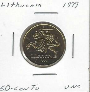 Lithuania 50 Centu, 1999, Uncirculated