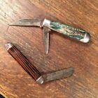 Vintage Pocket Knife Lot 2 USA Hammer Brand PRIORITY MAIL hh