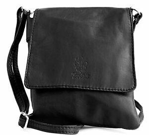 Echt Leder Damen Tasche  Umhängetasche  Schultertasche schwarz MC1022