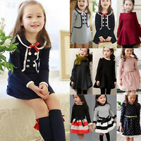 Kids Girls Baby Toddler Minnie Mouse Princess Party Mini Dress Pullover Sweater
