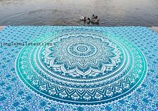 Indian Ombre Mandala Beach Throw Twin Tapestry Wall Hanging Picnic Sheet
