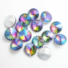 20pcs mix  AB  XILION ELEMENTS Crystal glass Rivoli loose Beads 12mm DIY
