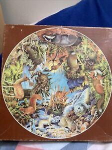 JOHN WADDINGTON RARE CIRCULAR JIGSAW   MAMMALS 1973 Complete And Collectable🧩