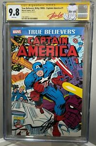 TRUE BELIEVERS CAPTAIN AMERICA 1 CGC 9.8 SDCC KIRBY 100th SS STAN LEE NO RESERVE
