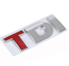 TDI Boot Badge Logo 3D Sticker Emblem VW Golf Polo EOS Scirocco TDI RED T