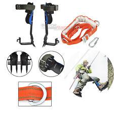 Tree Climbing Climbers Spike Hooks Gear w/Set Safety Belt Adjustable Lanyard US