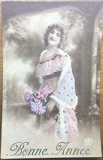 French Real Photo New Year Postcard - 1914