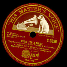 ALFRED DELLER - COUNTER-TENOR- Music for a while / If music be ....  78rpm G3433