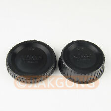 DSLRKIT Rear Lens + Camera body Cover cap for Nikon F mount AI AF AF-S DSLR