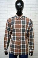 Camicia OXER Uomo Taglia Size XL Maglia Chemise Shirt Man Quadri Cotone Regular