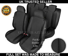 Tailored Car Seat Covers Full Set Black Leather Made For FORD FOCUS UP TO 2009