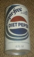 SUGAR FREE DIET PEPSI 12 OUNCE STEEL OLD Soda pop pull tab CAN PURCHASE NEW YORK